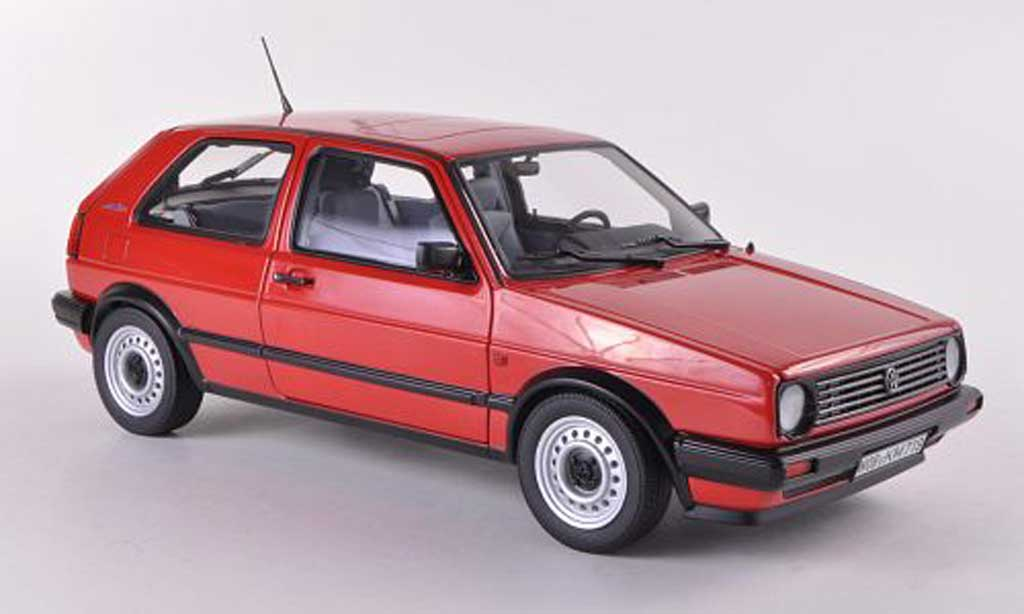 Volkswagen Golf 2 1/18 Norev CL rouge  1987 miniature