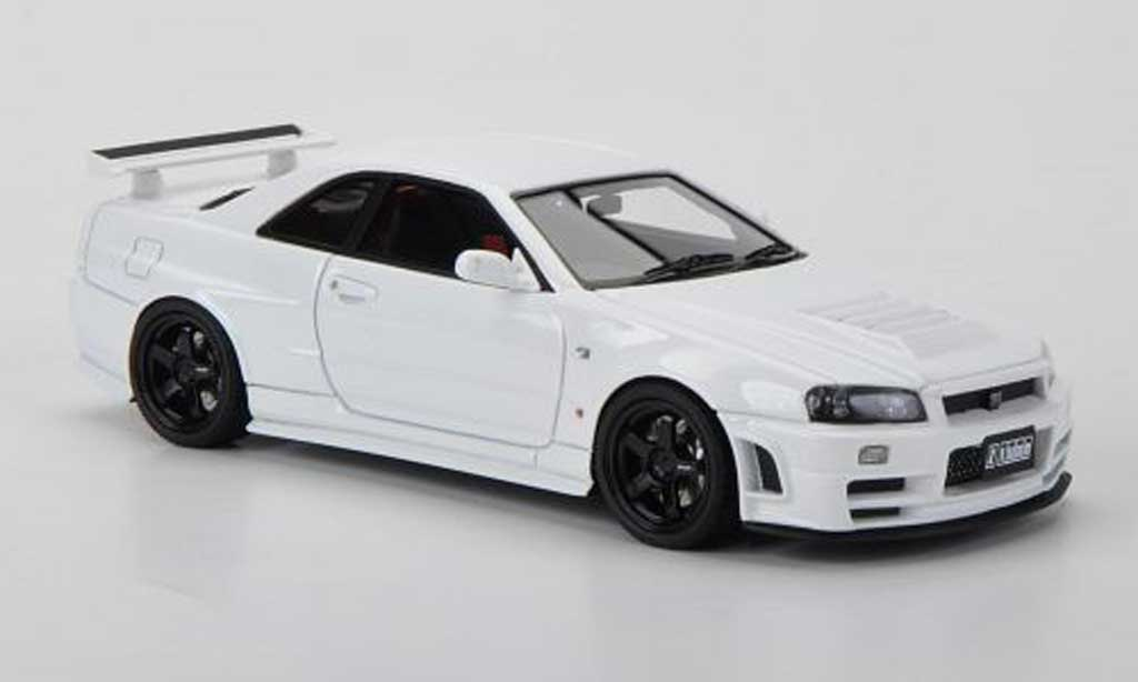 Nissan Skyline R34 1/43 HPI GT-R Nismo Z-tune blanche RHD miniature