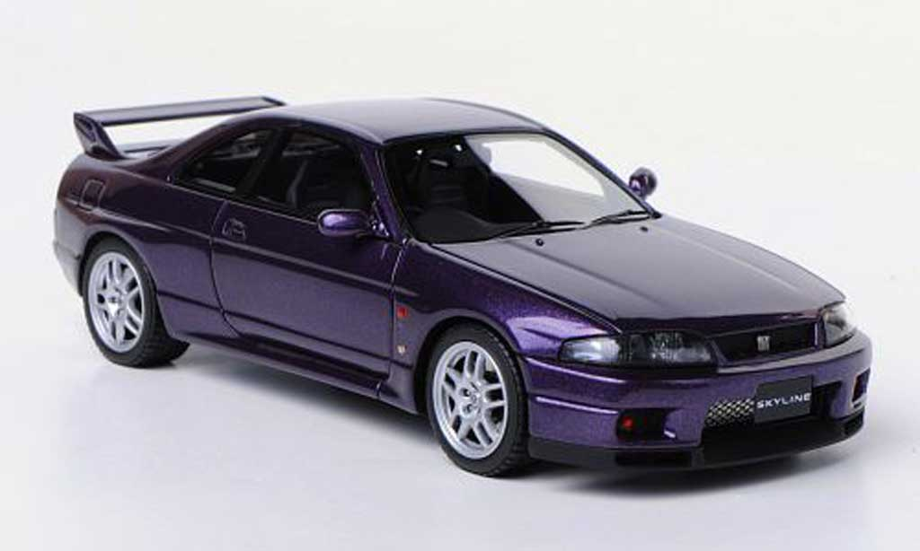 Nissan Skyline R33 1/43 HPI Mirage GT-R V-Spec (R33) lila RHD 1995 miniature