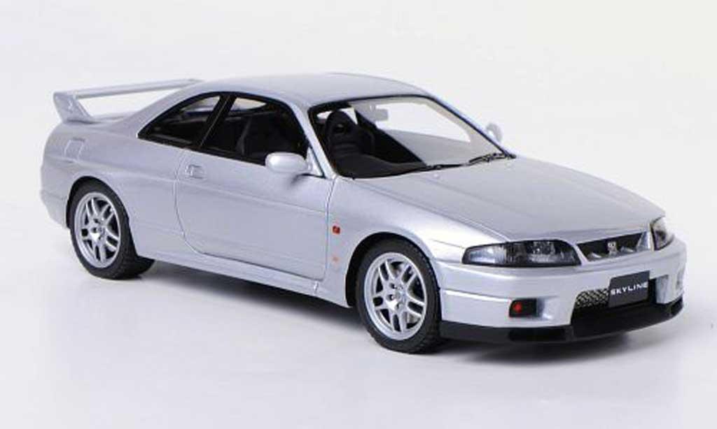 Nissan Skyline R33 1/43 HPI Mirage GT-R V-Spec (R33) gray RHD 1995 diecast