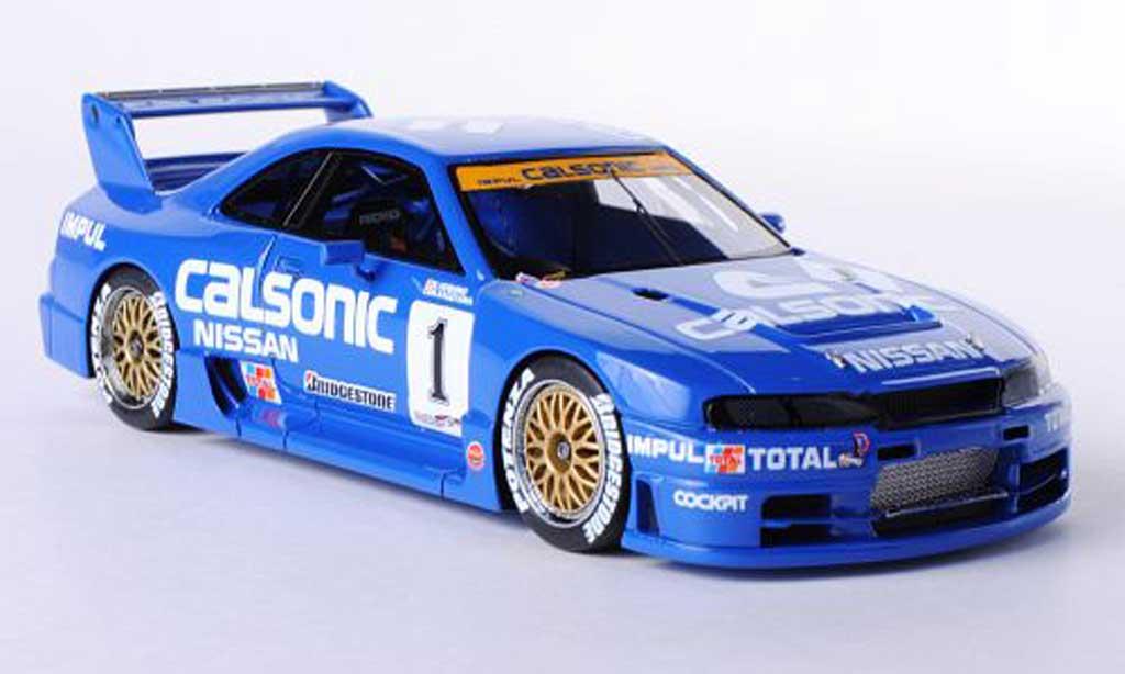 Nissan Skyline R32 1/43 HPI GT-R No.1 Calsonic K.Hoshino / M.Kageyama JGTC Sendai 1995 modellautos