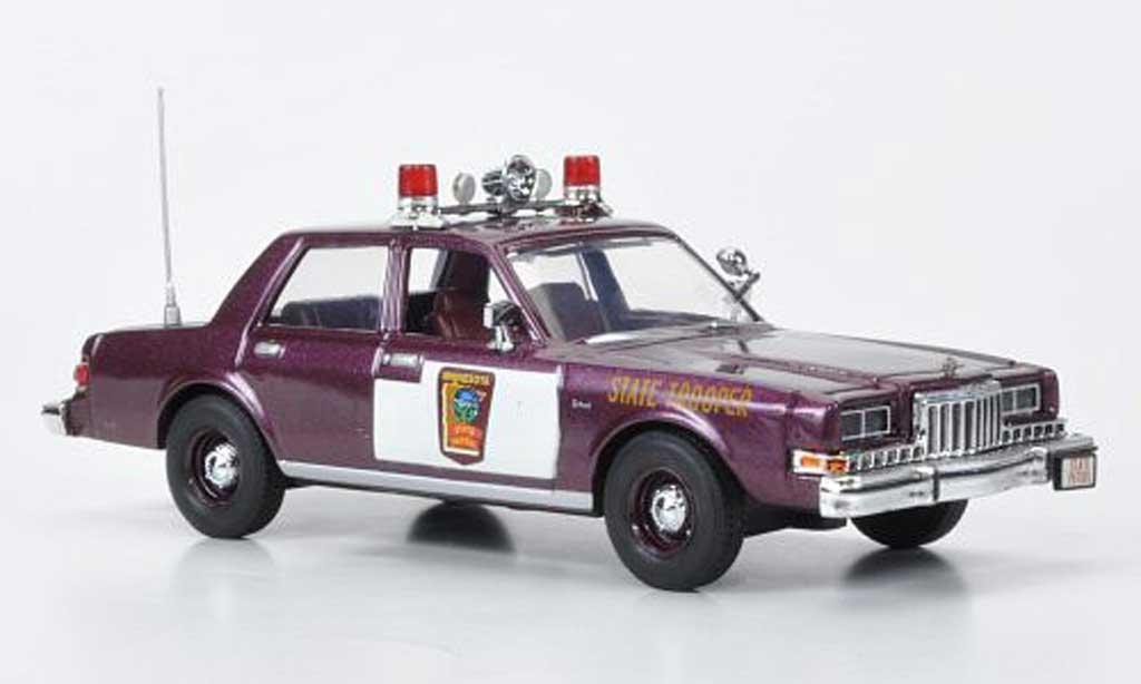 Dodge Diplomat 1/43 First Response Minnesota State Patrol 1985 miniature