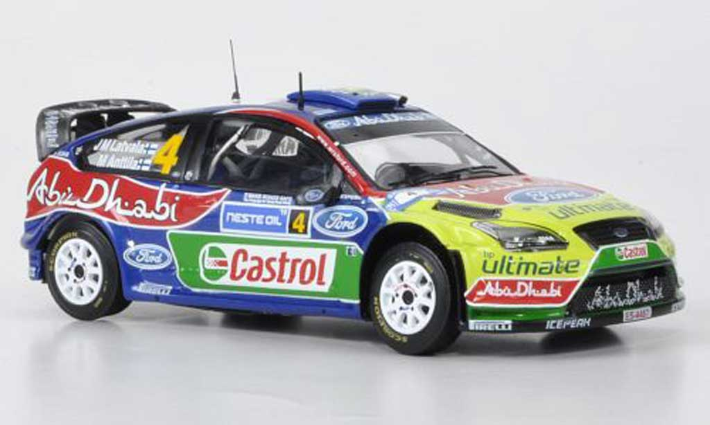 Ford Focus RS WRC 1/43 IXO 09 No4 BP/Abu Dhabi Rally Finnland 2010 miniature