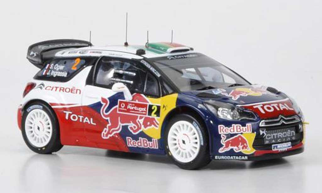 DS Automobiles DS3 WRC 2011 1/43 IXO WRC 2011 No.2 Red Bull Ogier/Ingrassia Rally Portugal miniature