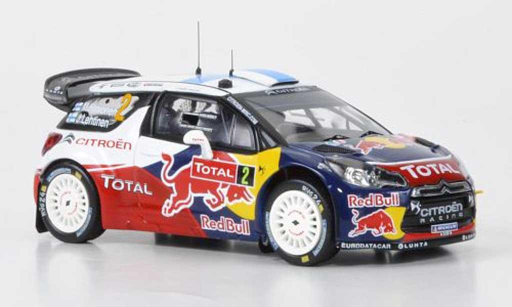 DS Automobiles DS3 WRC 2012 1/43 IXO WRC No.2 Red Bull Hirvonen/Lehtinen Rally Monte Carlo 2012 miniature