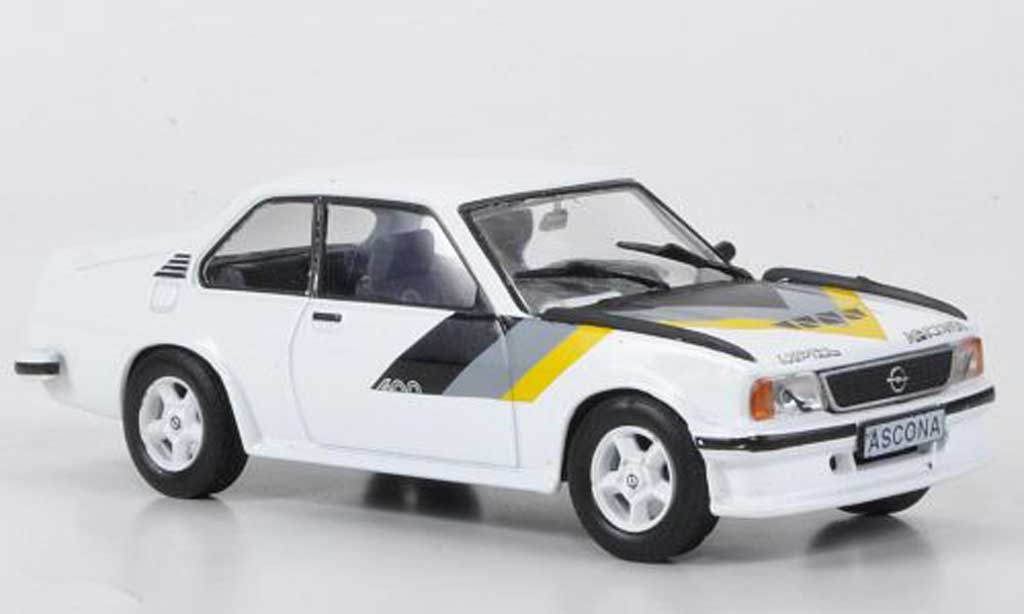 Opel Ascona B 1/43 Hachette 400 blanche (ohne Magazin) 1979 miniature