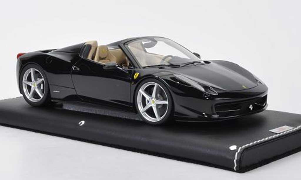 Ferrari 458 Italia Spider 1/18 MR Collection noire miniature