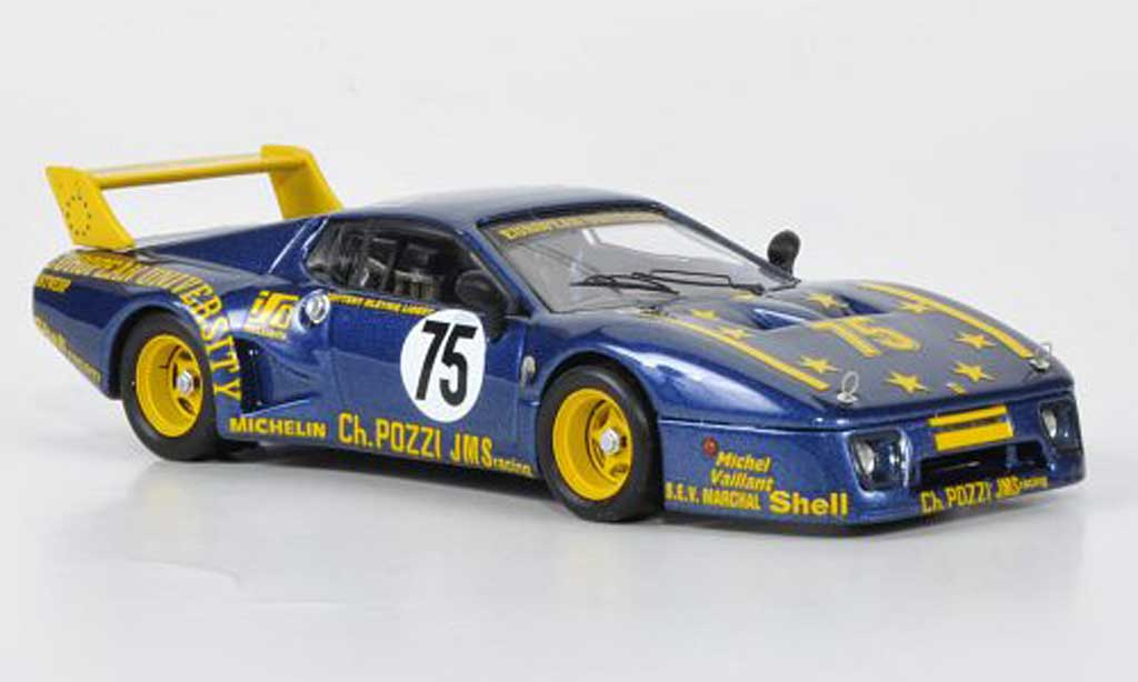 Ferrari 512 BB LM 1/43 Best No.75 JMS Racing Guitteny / Bleynie / Libert 24h Le Mans 1980 diecast model cars