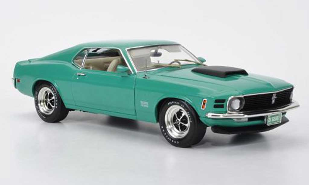 Ford Mustang 1970 1/18 Highway 61 Boss 429 verte/noire miniature