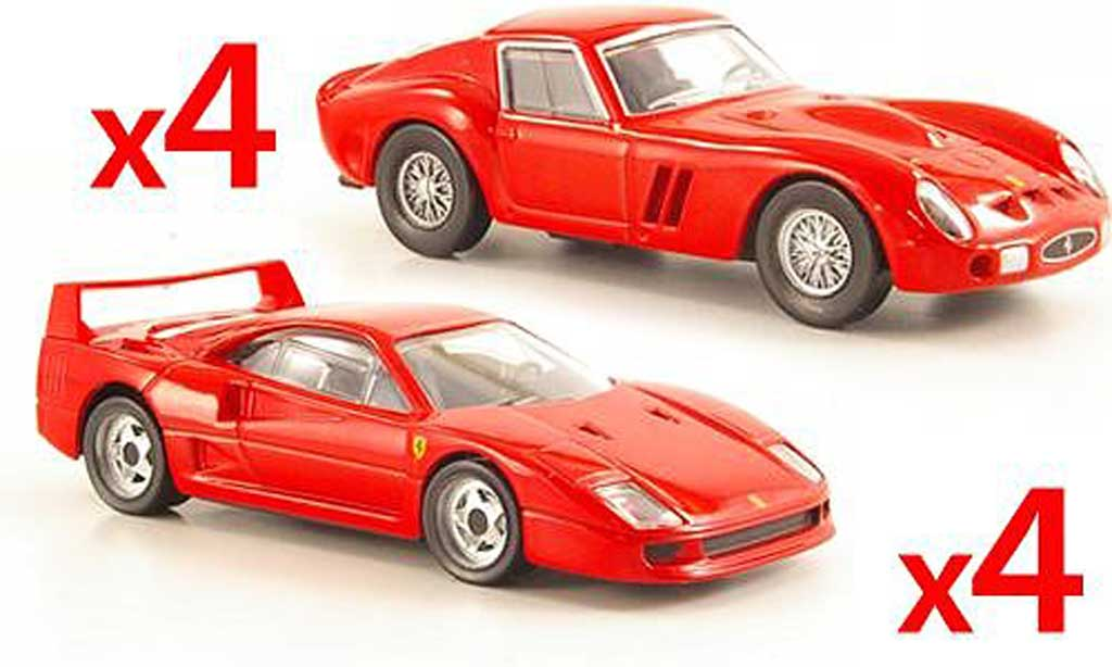 Ferrari 250 1/43 Hot Wheels Ferrari-Set 4 x F40 red und 4 x 250 GTO red diecast
