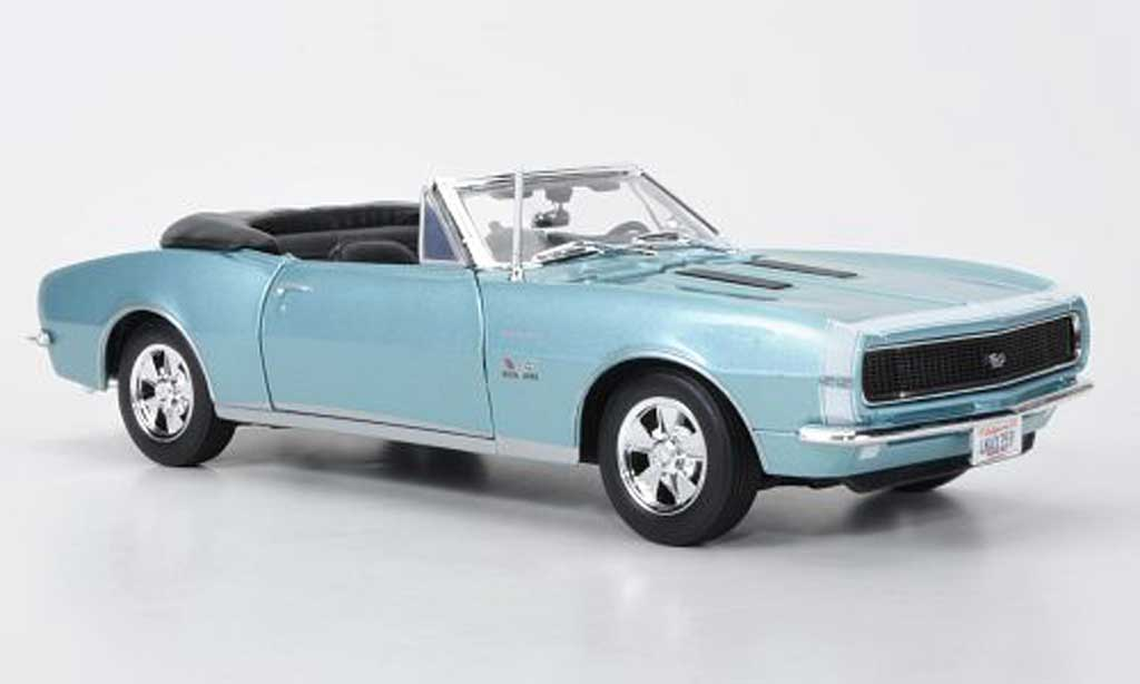 Chevrolet Camaro SS 1/18 Maisto 396 Cnvertible bleu 1967 miniature