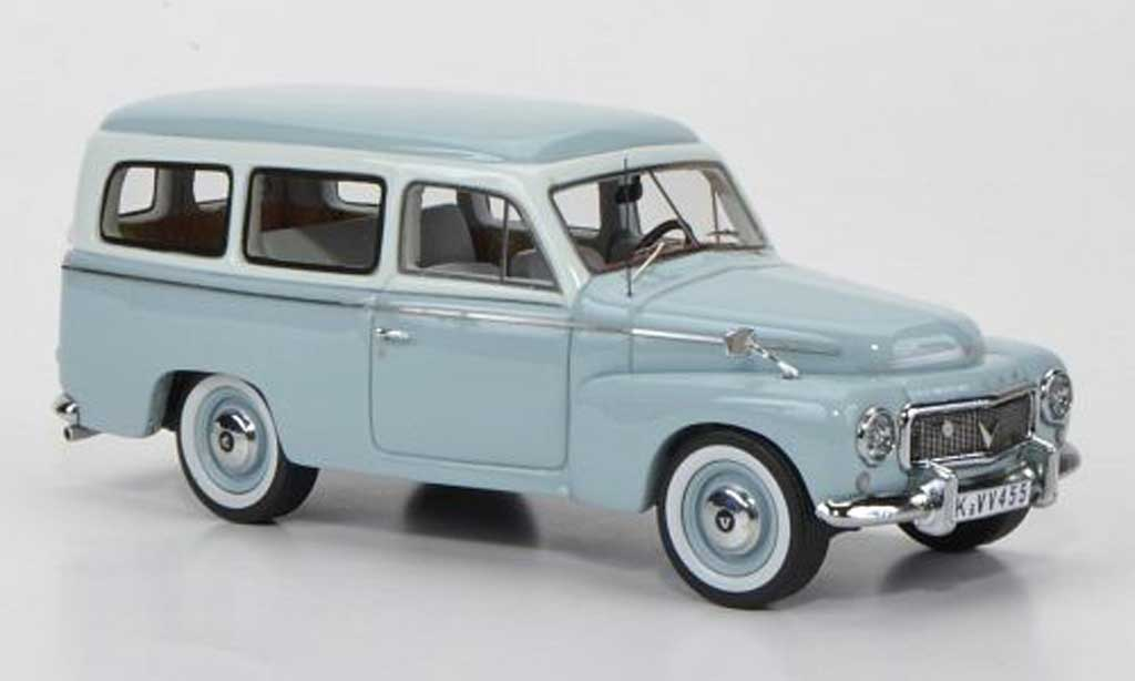 Volvo 445 1/43 Neo duett grisebleu/blanche miniature