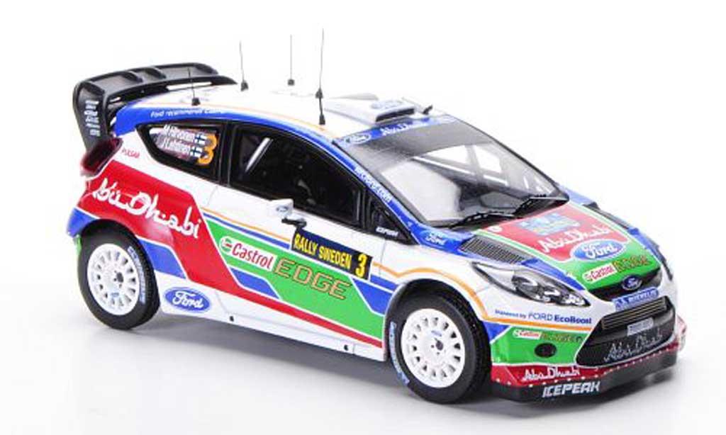 Ford Fiesta WRC 1/43 IXO No.3 M.Hirvonen / J.Lehtinen Rally Schweden 2011 miniature