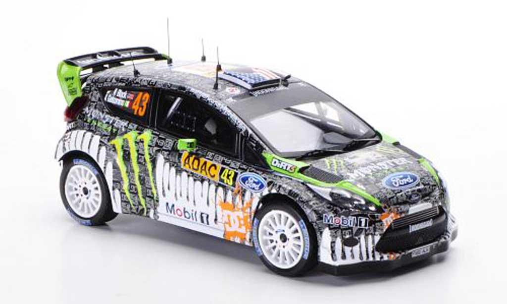 Ford Fiesta WRC 1/43 IXO No.43 K.Block / A.Gelsomino Rally Deutschland 2011 miniature