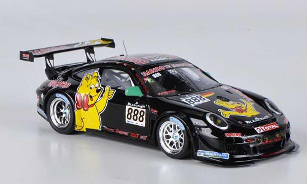 Porsche 997 GT3 1/43 Spark R 2011 No.888 Team Manthey R.Westbrook / C.Menzel / M.Stursberg / H.G.Riegel 24h Spa diecast model cars