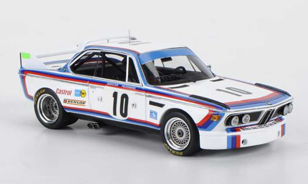 Bmw 3.0 CSL 1/43 Spark No.10 D.Quester/T.Hezemans 24h Spa 1973 diecast model cars