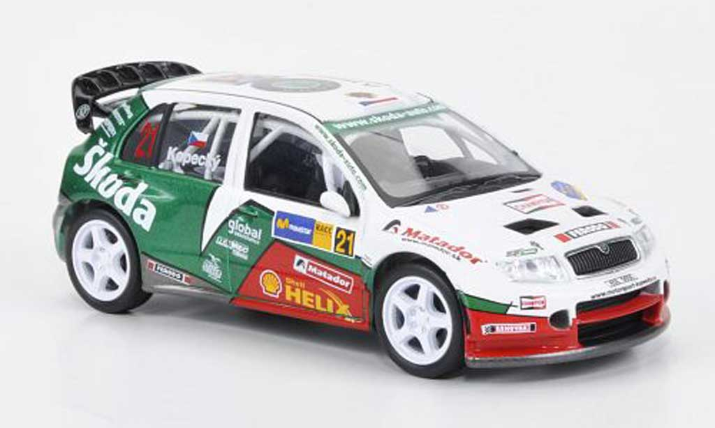 Skoda Fabia WRC 1/43 Abrex Evo No.21 Kopecky/Schovanek Rally Catalunya 2006 miniature