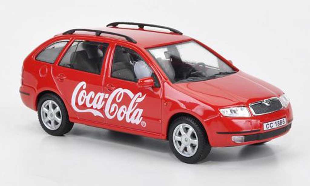 Skoda Fabia 1/43 Abrex Coca-Cola red
