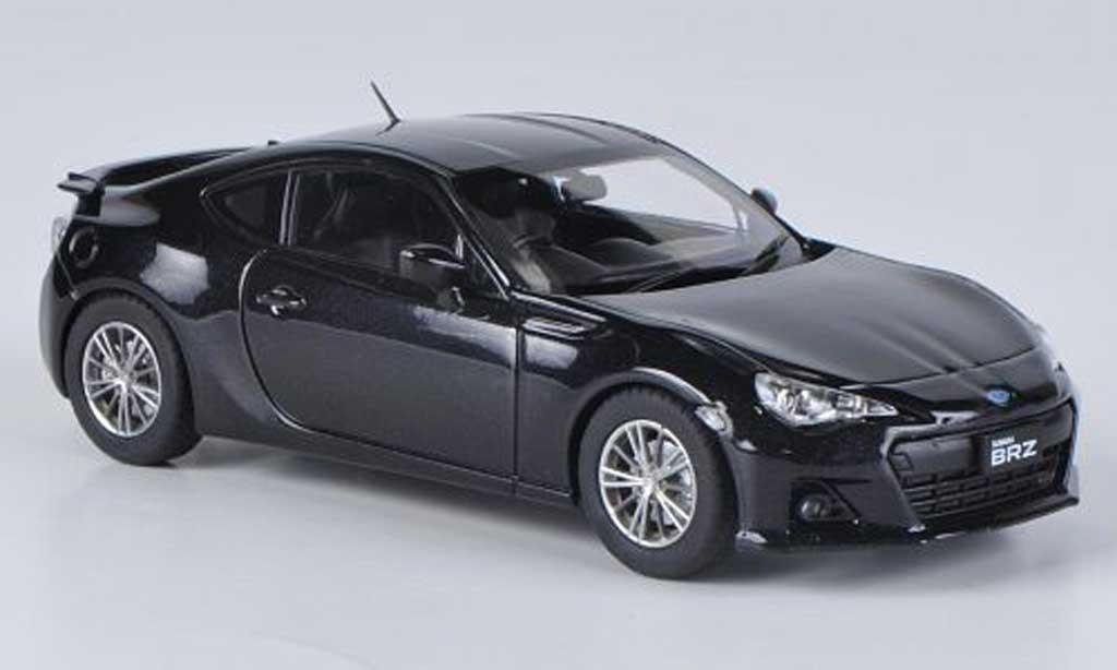 Subaru BRZ 1/43 Ebbro schwarz RHD 2012 modellautos