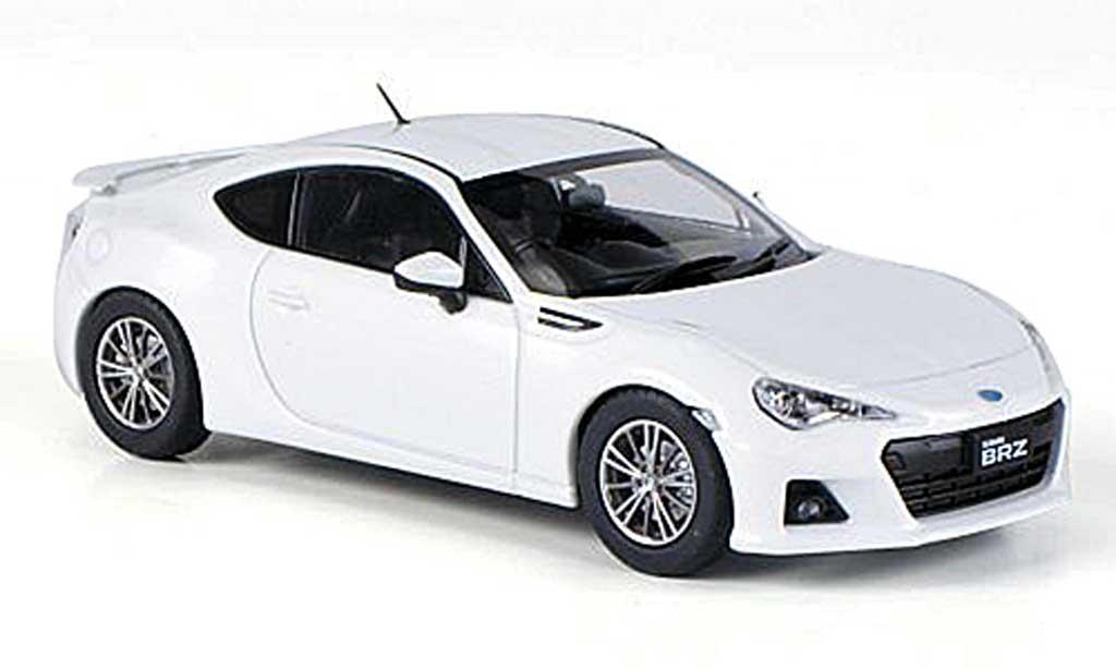 Subaru BRZ 1/43 Ebbro weiss RHD 2012 modellautos