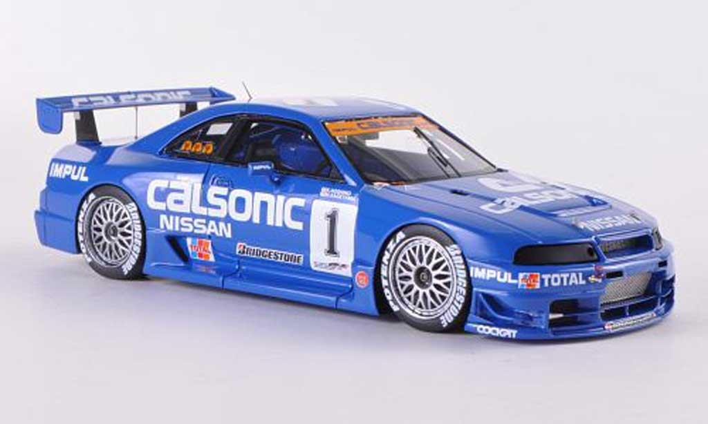Nissan Skyline R33 1/43 HPI GT-R No.1 Calsonic K.Hoshino / M.Kageyama JGTC Mine  1995 miniature