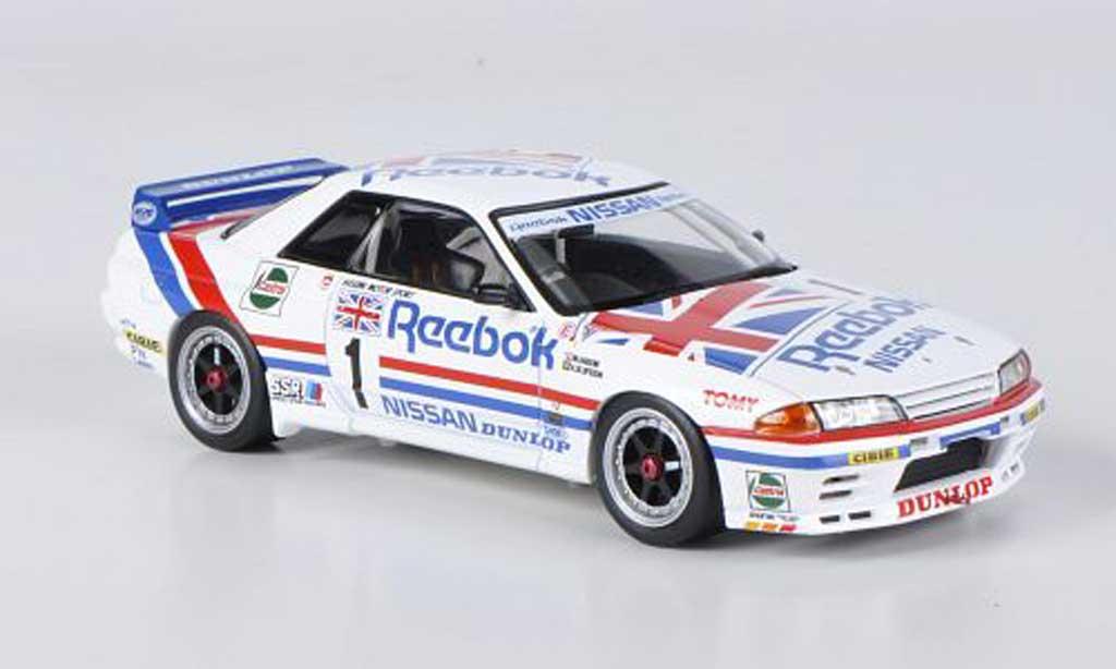Nissan Skyline R32 1/43 HPI GT-R No.1 Reebok M.Hasemi / A.Olofsson JTC West Japan 1990 miniature