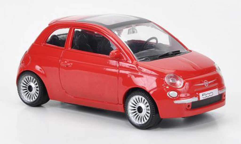 Fiat 500 1/43 Motorama red diecast model cars