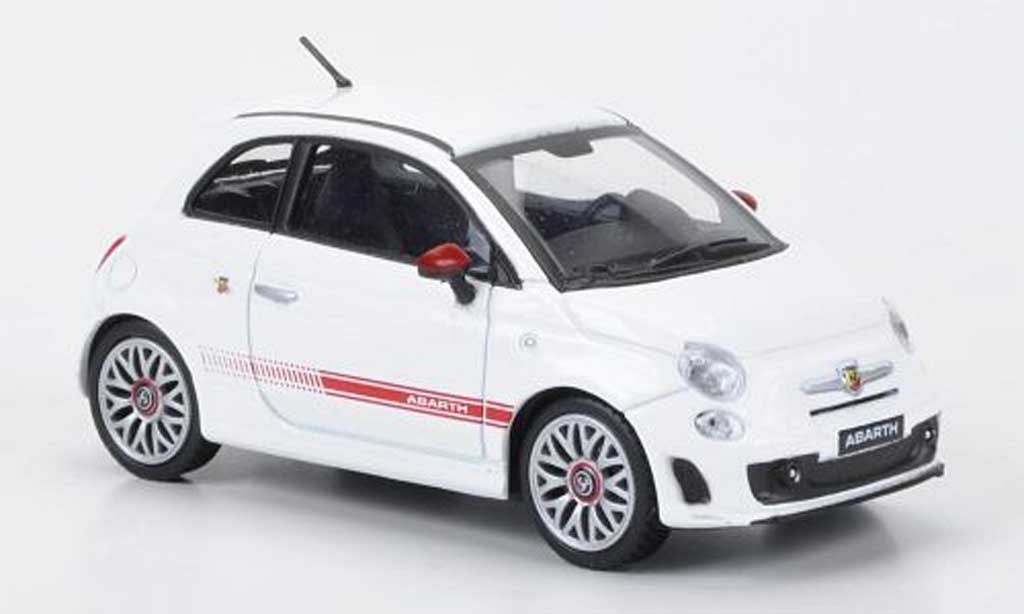 Fiat 500 Abarth 1/43 Motorama white 2009 diecast model cars