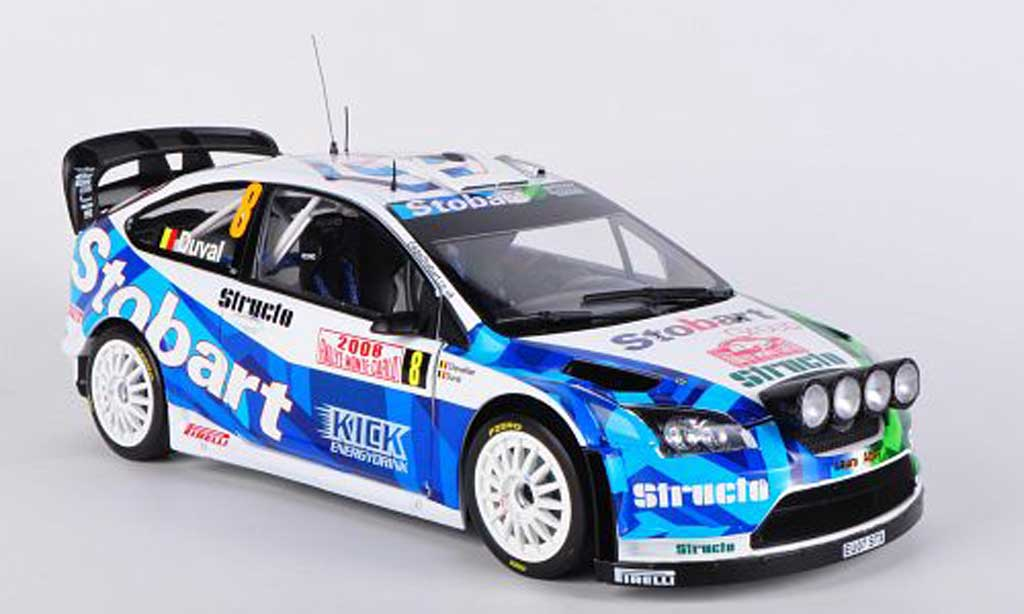 Ford Focus RS WRC 1/18 Sun Star No.8 F.Duval / E.Chevaillier Rally Monte Carlo 2008 miniature