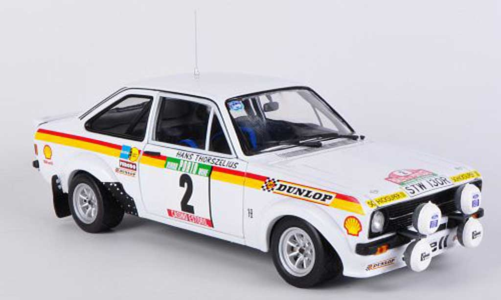 Ford Escort RS 1800 1/18 Sun Star B.Waldegard / H.Thorszelius No.2 Rally Portugal miniature