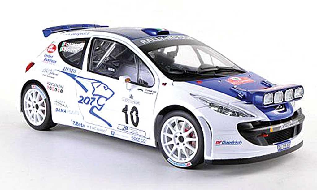 Peugeot 207 S2000 1/18 Sun Star No.10 Rally Sanremo  2007 L.Rossetti/M.Chiarcossi miniature