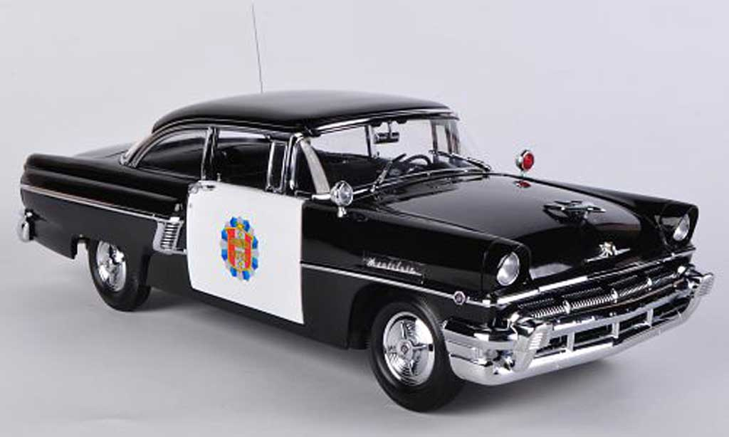 Mercury Montclair 1/18 Sun Star Hard Top Police Car noire/blanche 1956 miniature