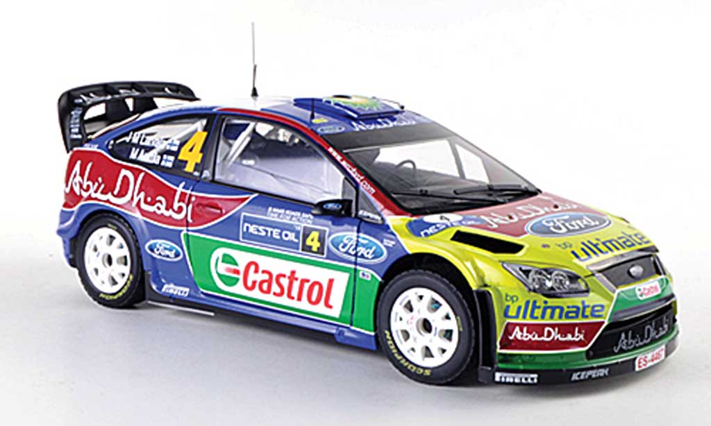 Ford Focus RS WRC 1/18 Sun Star 09 No.4 Rally Finnland 2010 J-M.Latvala/M.Attila miniature