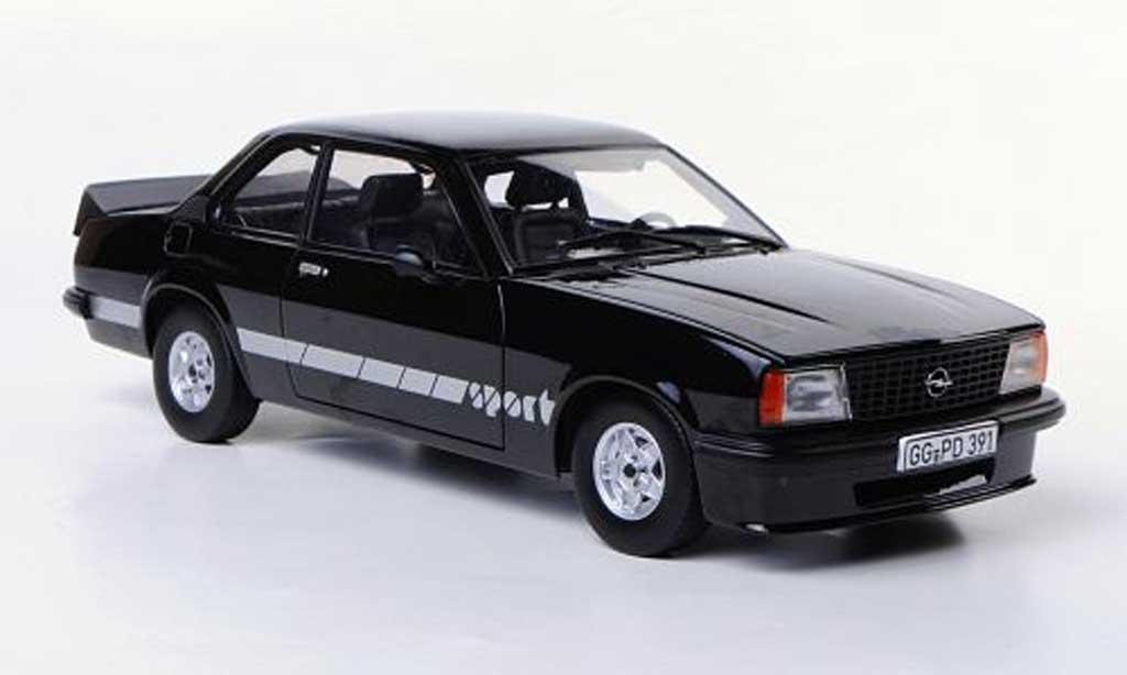 Opel Ascona B 1/18 Sun Star 2.0E Sport noire miniature