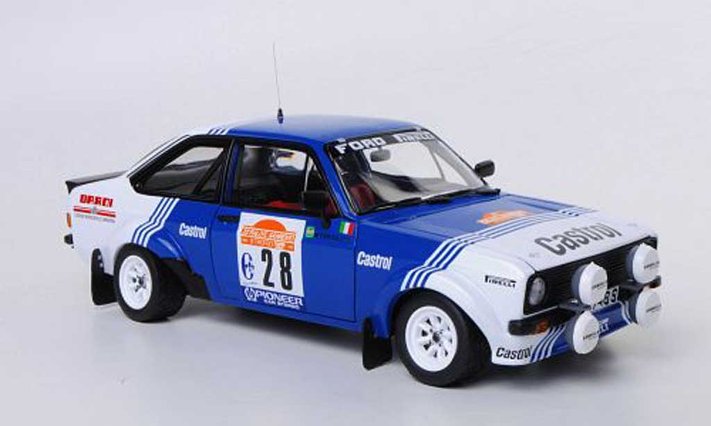Ford Escort RS 1800 1/18 Sun Star No.28 Castrol A.Presotto / M.Perissutti Rally Sanremo 1981 miniature
