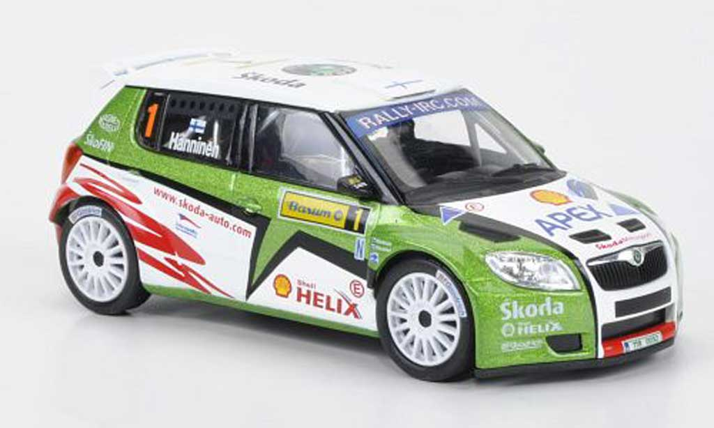 Skoda Fabia S2000 1/43 Abrex No.1 Hanninen Barum Rally 2010 miniature