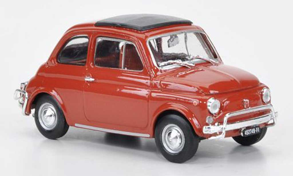 Fiat 500 L 1/43 Brumm rouge-orange 1968 miniature