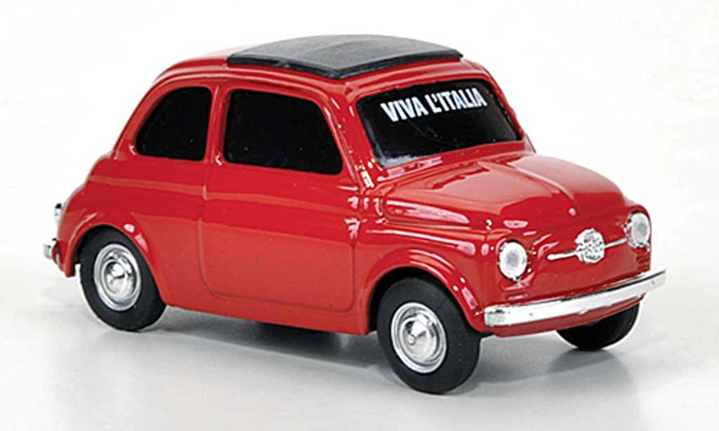 Fiat 500 1/43 Brumm VIVA Italia rouge 1960 miniature