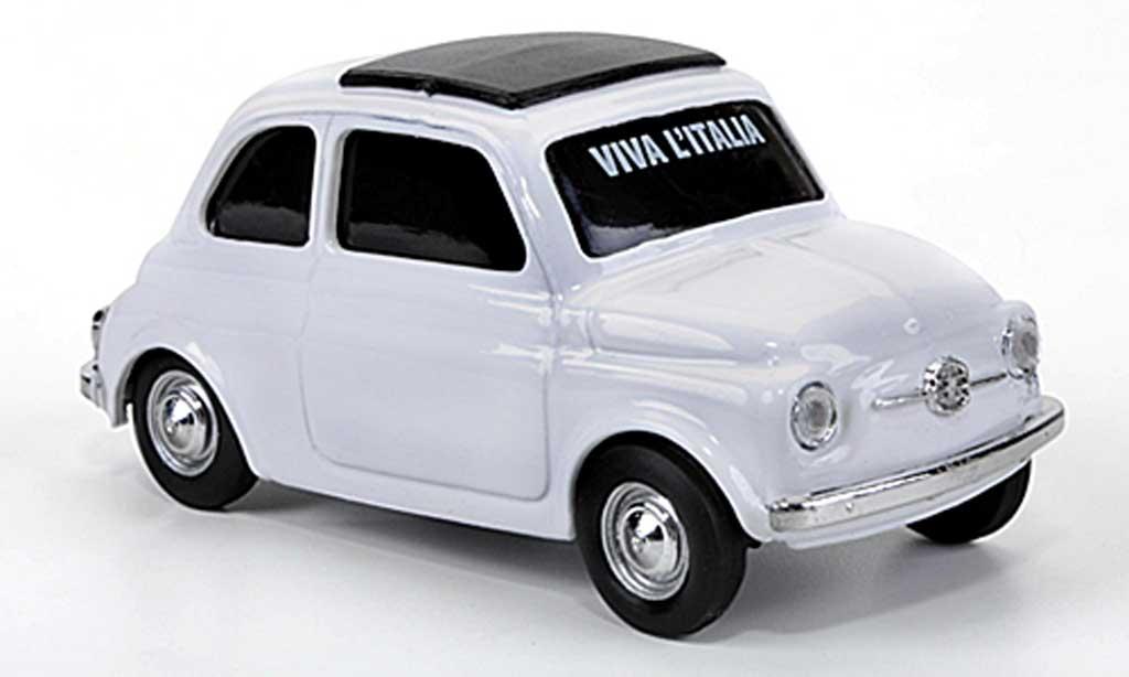 Fiat 500 1/43 Brumm VIVA Italia white 1960 diecast model cars
