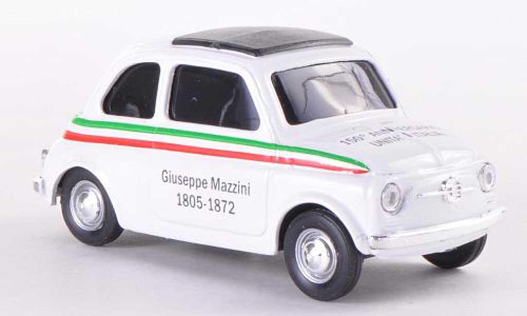 Fiat 500 1/43 Brumm VIVA Italia white 150 Jahre D'Italia 1805-1872 1970 diecast model cars