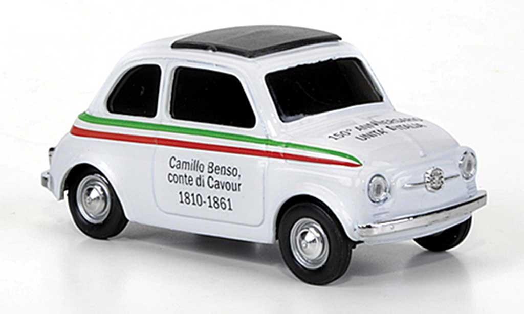 Fiat 500 1/43 Brumm VIVA Italia white 150 Jahre D'Italia 1810-1861 1970 diecast