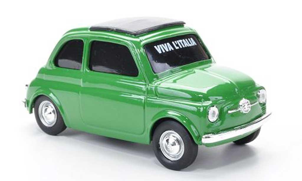 Fiat 500 1/43 Brumm VIVA Italia green 1960 diecast