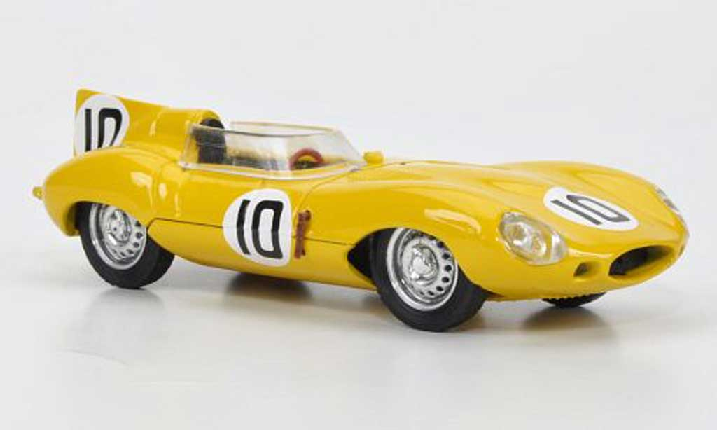 Jaguar D-Type 1955 1/43 Brumm 1955 No.10John Claes - Jacques Swaters 24h Le Mans miniature