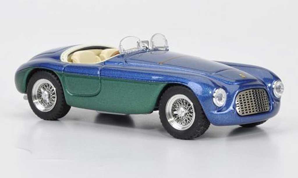 Ferrari 166 1950 1/43 Brumm MM bleu Giovanni Agnelli Barchetta Touring miniature