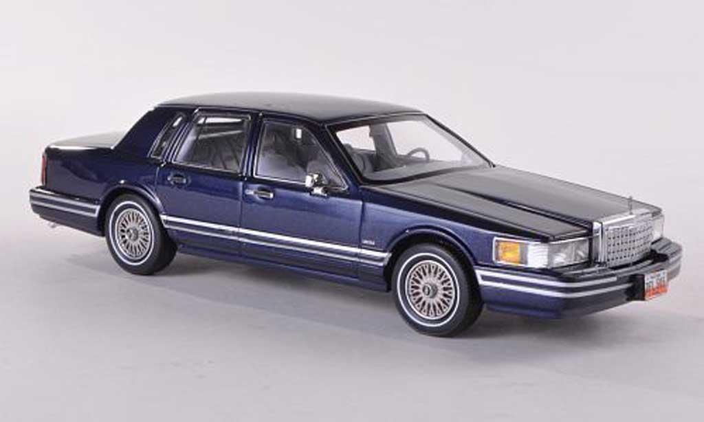 Lincoln Town Car 1990 1/43 Neo 1990 bleue 1990 miniature