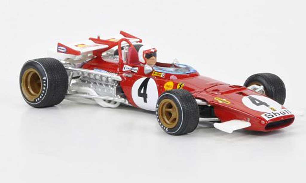 Ferrari 312 B 1/43 Brumm No.4 Regazzoni GP Italien + Fahrer 1970 miniatura