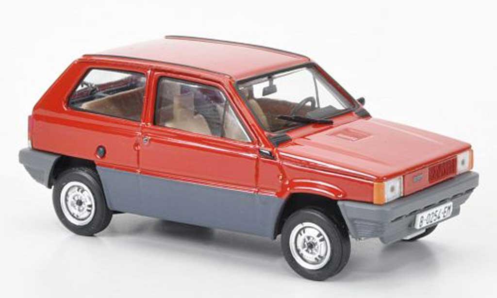 Fiat Panda 1/43 Brumm 35 rouge 1980