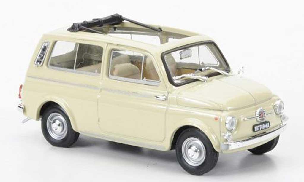 Fiat 500 1/43 Brumm Giardiniera beige 1960 diecast model cars