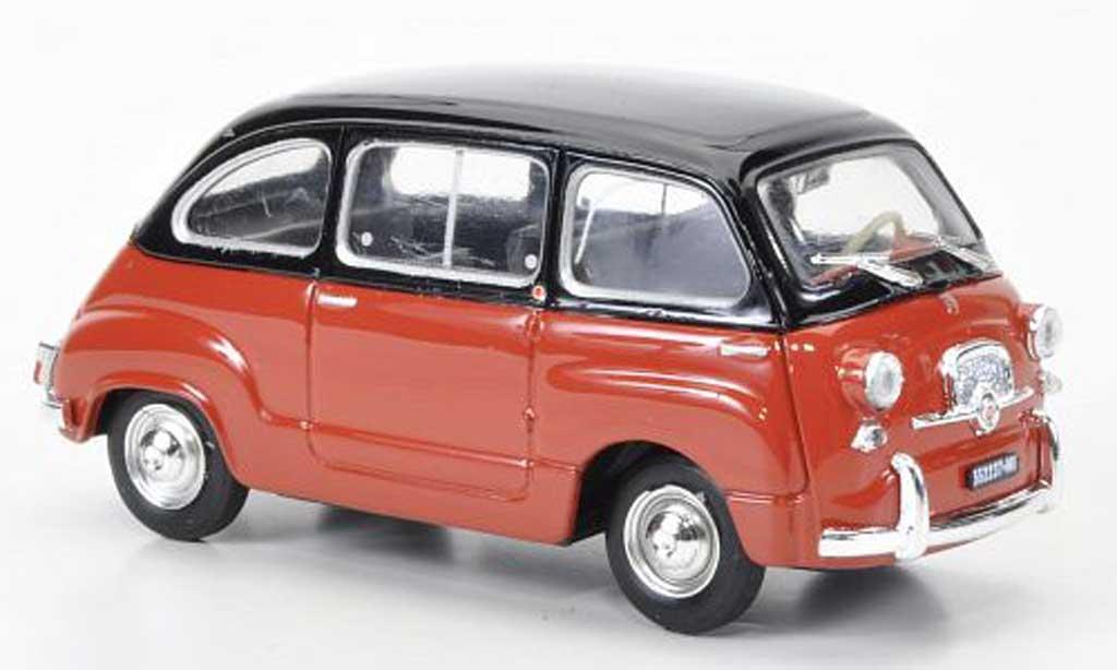 Fiat 600 1/43 Brumm D Multipla orange/noire 1960 miniature