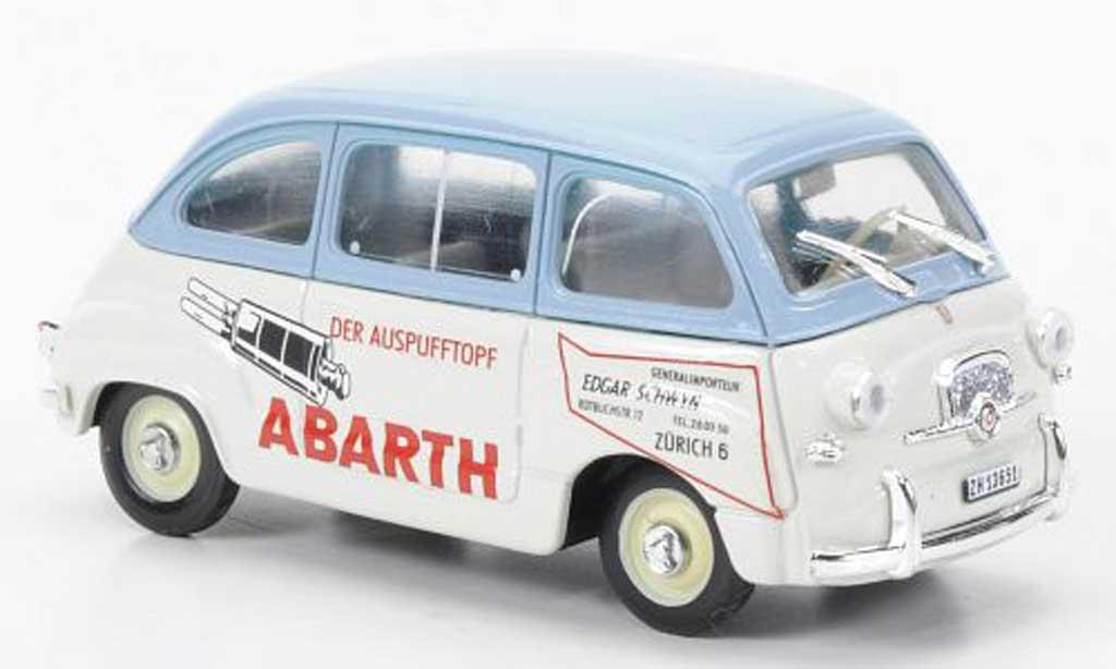 Fiat 600 1/43 Brumm D Multipla Abarth bleu/blanche Der Auspufftopf 1960 miniature